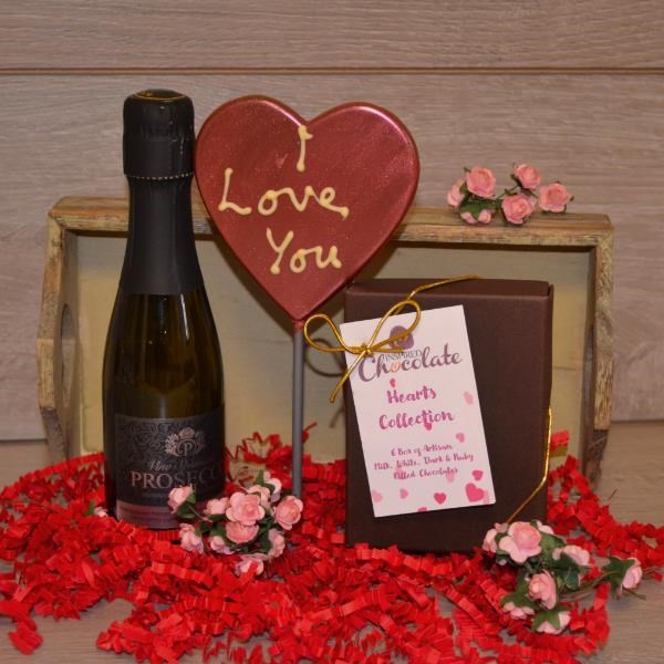 I Love You Chocolate & Fizz Hamper