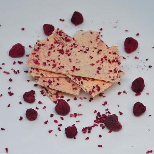 Raspberry White Chocolate Shards
