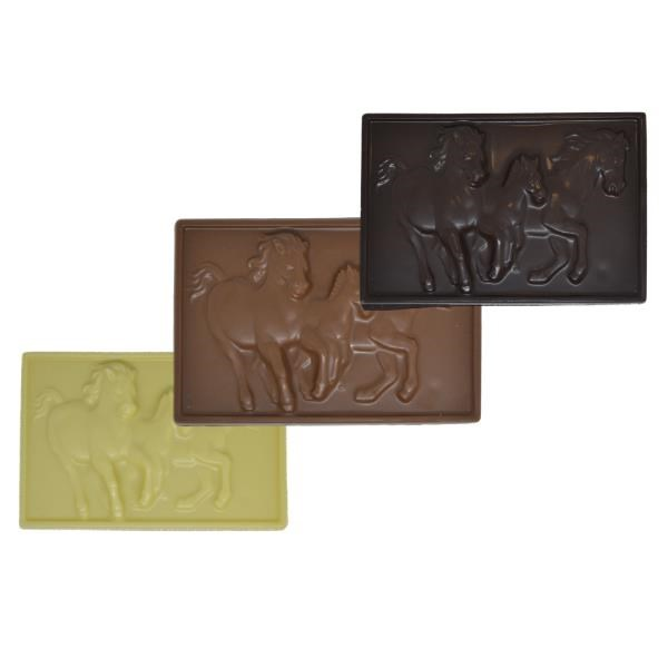 3D Chocolate Horse Plaque