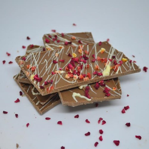 Strawberry Milk Chocolate Shards