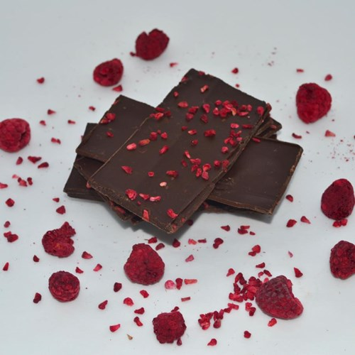 Raspberry Dark Chocolate Shards