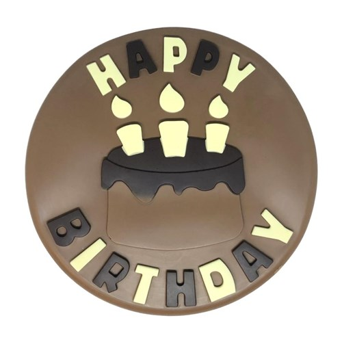 Happy Birthday Milk Chocolate Plaque