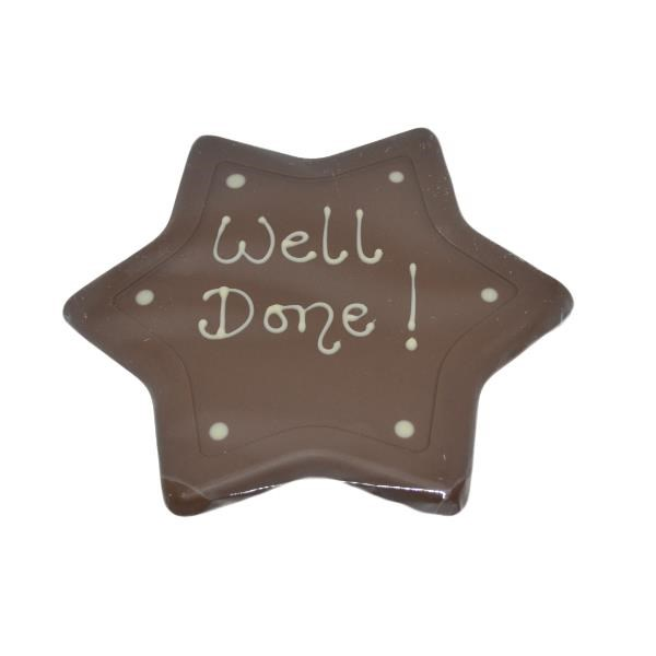 Personalised Chocolate Star Plaque