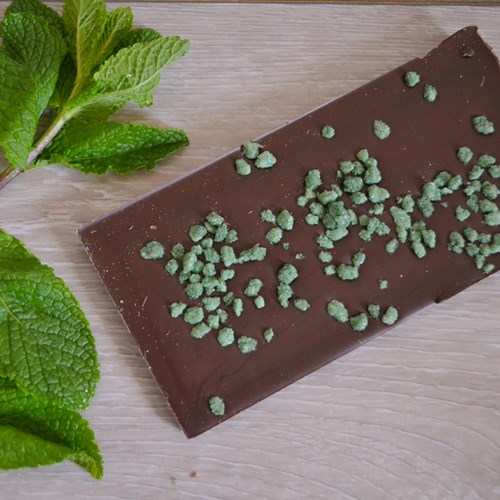 Mint Inclusion Dark Chocolate Bar