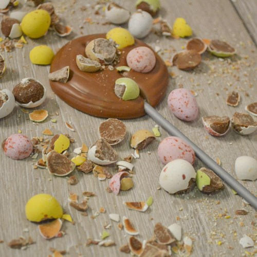 Mini Egg Milk Chocolate Lolly