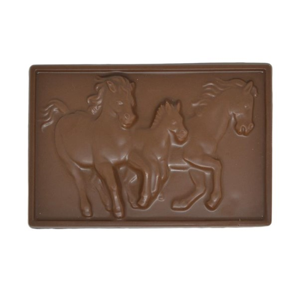 3D Chocolate Horse Plaque - Milk