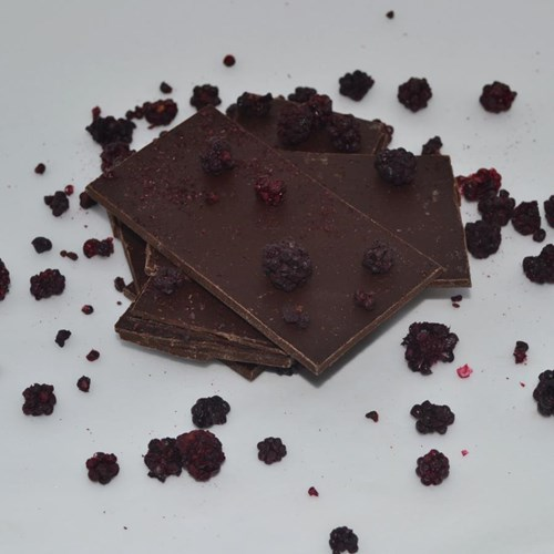 Blackberry Dark Chocolate Shards