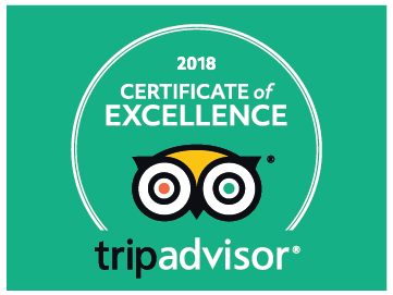 Certificate of Excellence 2018 from Trip Advisor